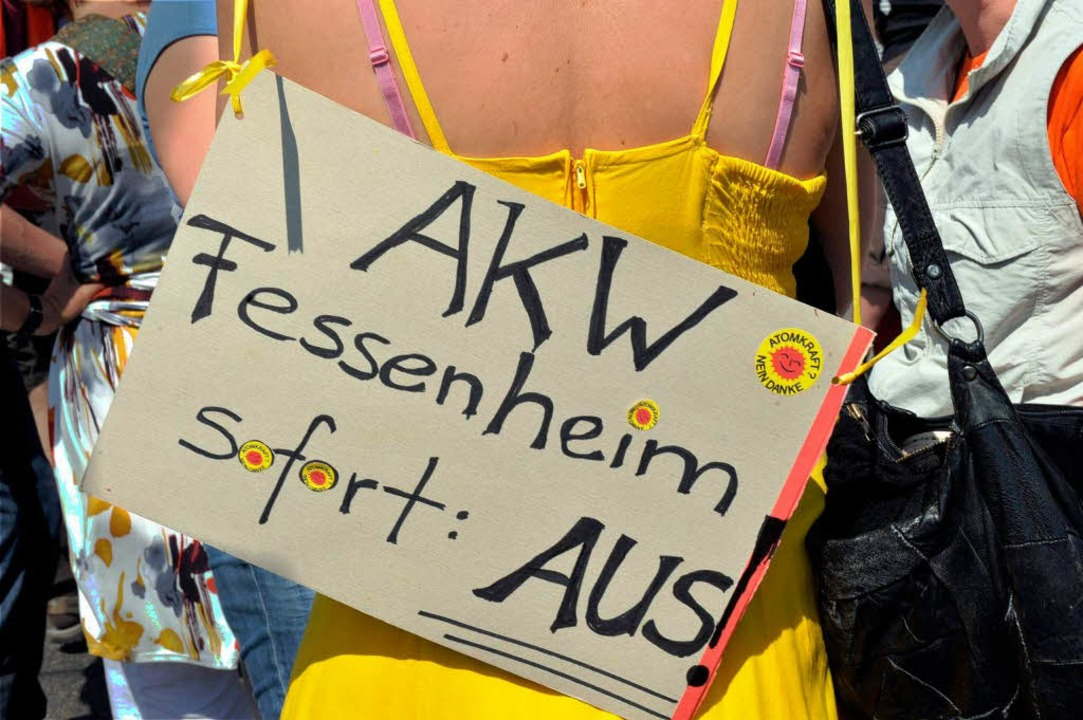 Protest zwischen Neuf Brisach und Breisach.  | Foto: dpa
