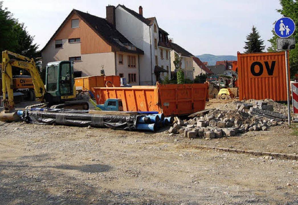 Der dritte Bauabschnitt an der Kirchstraße     Foto: Heinz Vollmar