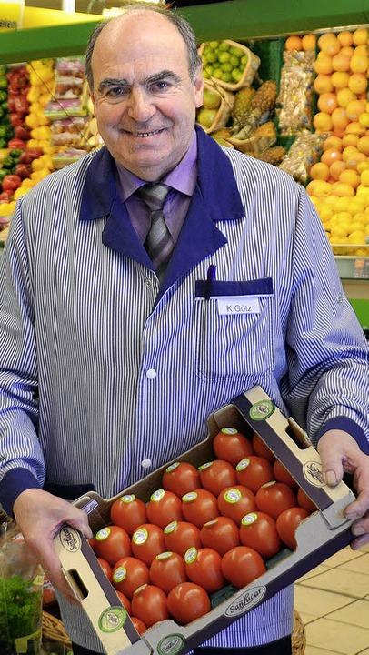 Konrad Götz, Neukauf-Marktleiter in Grenzach, geht Ende April in den Ruhestand.    Foto: Martina Weber-Kroker
