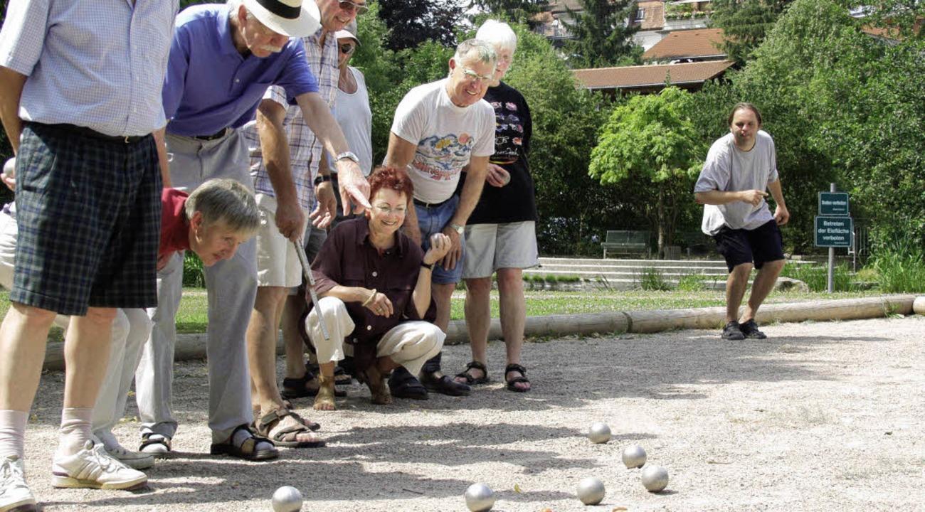 Boule spielen kann jeder.  | Foto: archivfoto: elia ramsteck