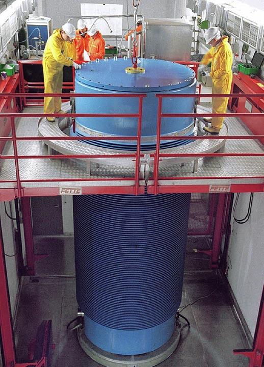 Castor mit Atommüll  – Gorleben ... einzig mögliche Ort für ein Endlager.    Foto: dpa
