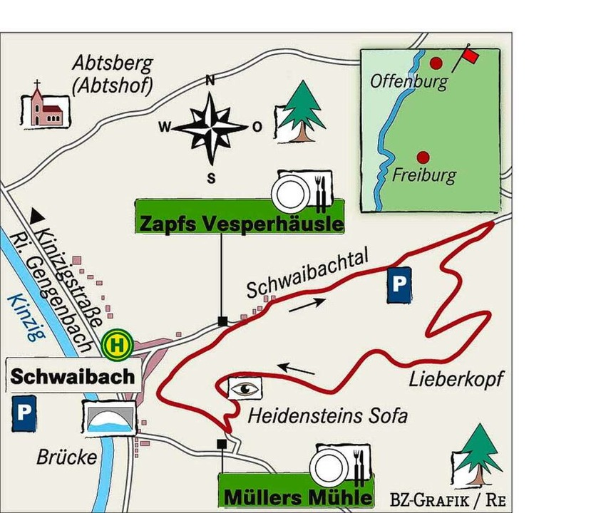 Karte: Zapfs Vesperhäusle.    Foto: bz