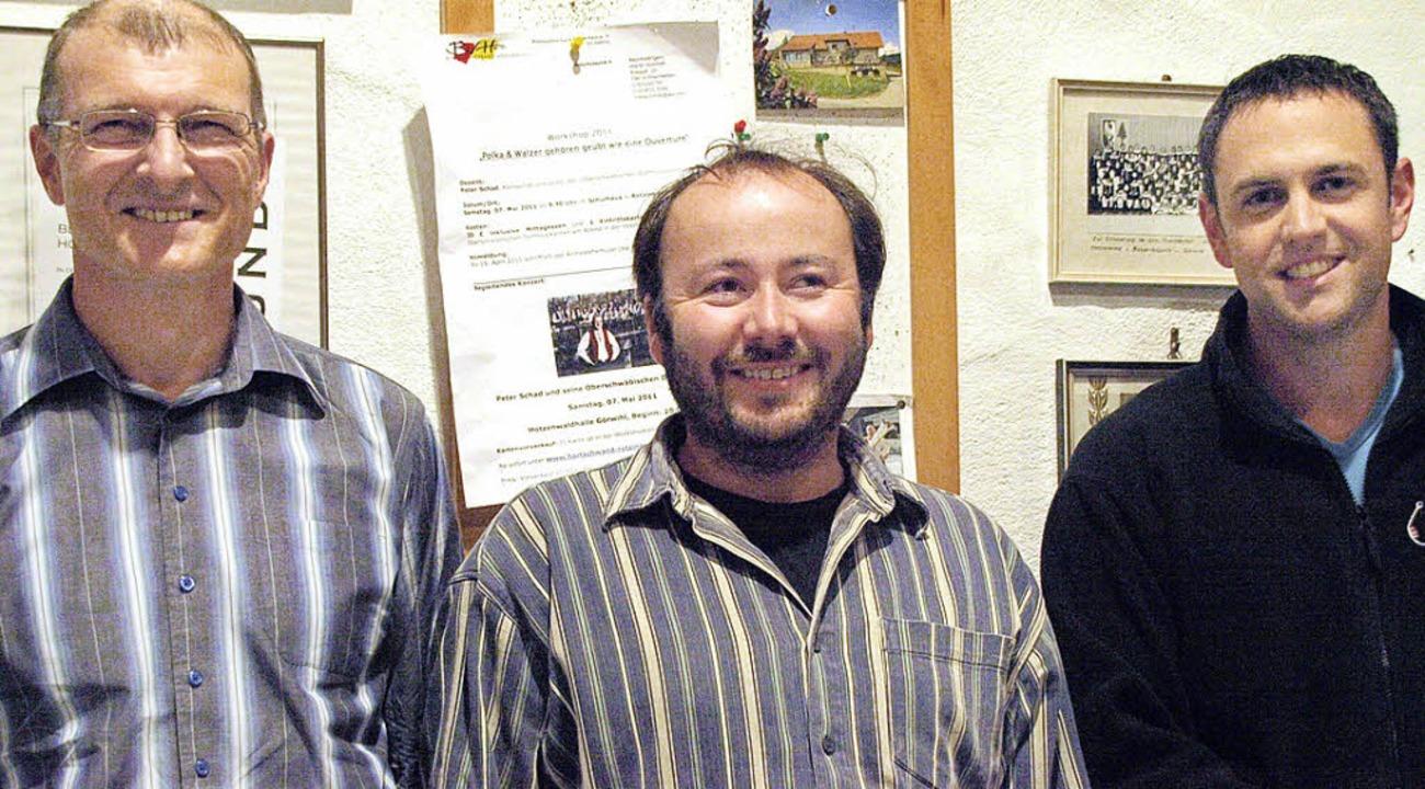Den Vorstand der Gemeinschaft für Blas...der neue Vize Mike Biehler (von links)  | Foto: Karin Stöckl-Steinebrunner