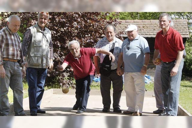Eine europäische Rentnerfamilie