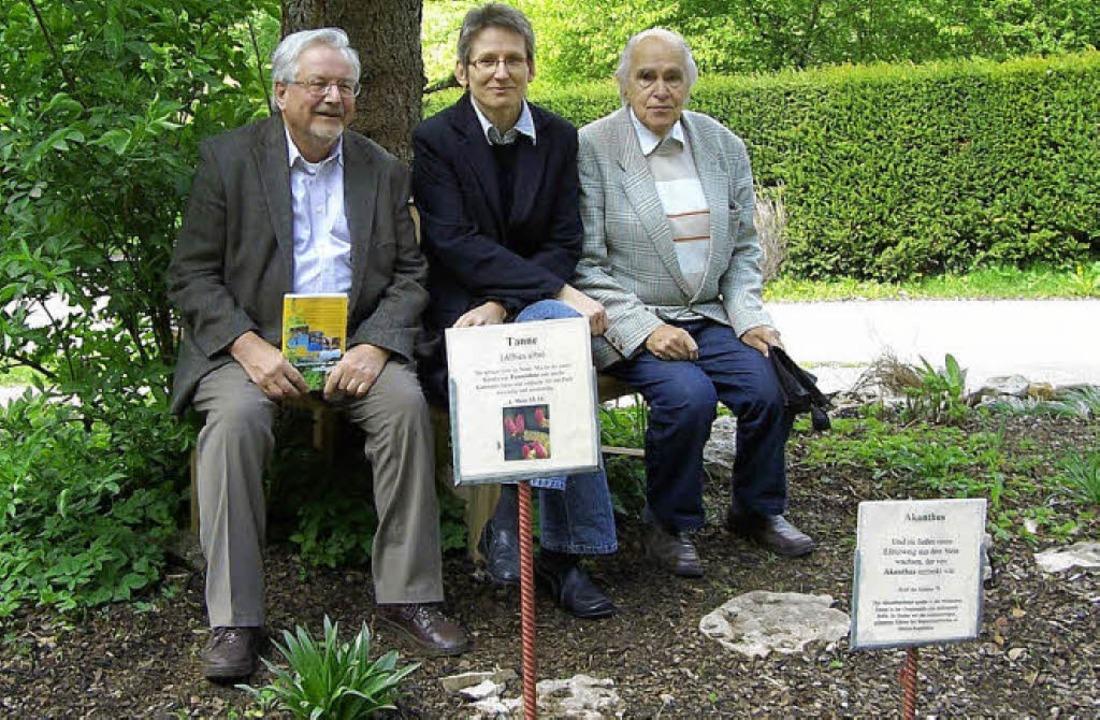 Peter Spiegel (links) hatte vor zehn J...das Projekt auch weiterhin begleiten.   | Foto: Karla Scherer