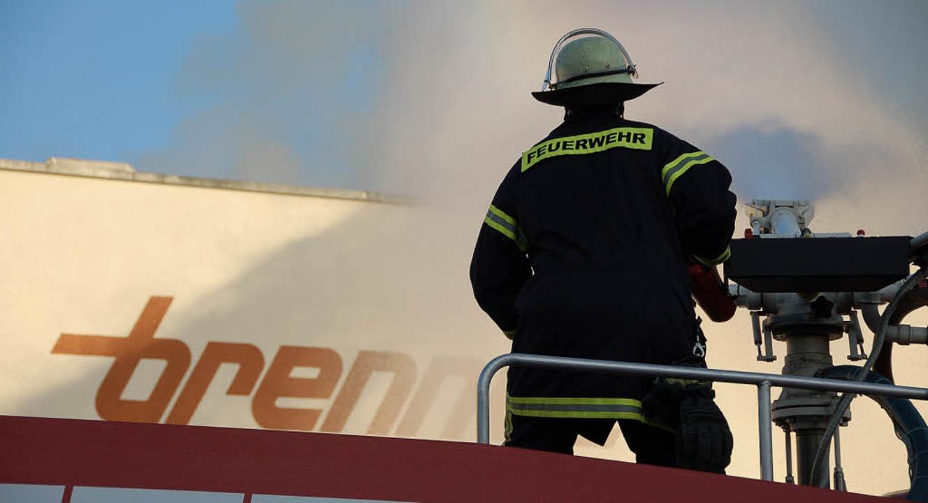 Brand der Spinnerei der Brennet AG in Hausen  | Foto: Krug