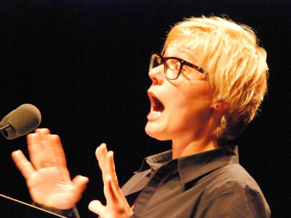 Prolog-Rednerin Ulrike Derndinger aus Lahr.  | Foto: Maja Tolsdorf