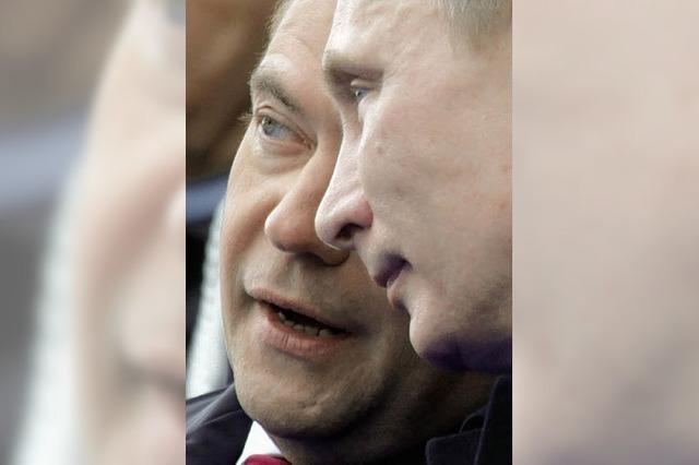 Medwedew ist vorgeprescht, aber Putin will überholen