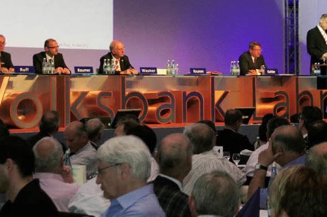 Volksbank Lahr: Erneut sieben Prozente Dividende