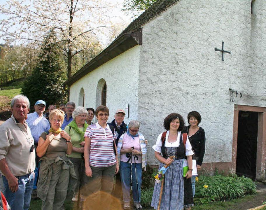 Rosemarie Riesterer wusste ihrer Grupp...e Neungeschwisterkapelle zu erzählen.     Foto: Karin Heiss