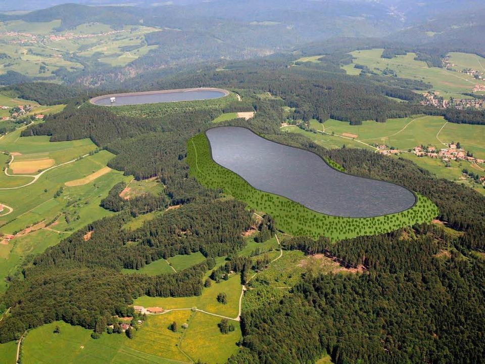 Auf 1,2 Milliarden Euro sind die Bauko...  Wasserbecken (vorne)  veranschlagt.     Foto: ZVG