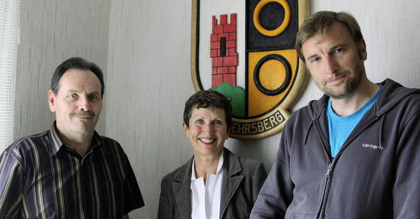 Häg-Ehrsbergs Bürgermeister Bruno Schm...d Regisseur Arnd Heuwinkel (von links)  | Foto: Privat