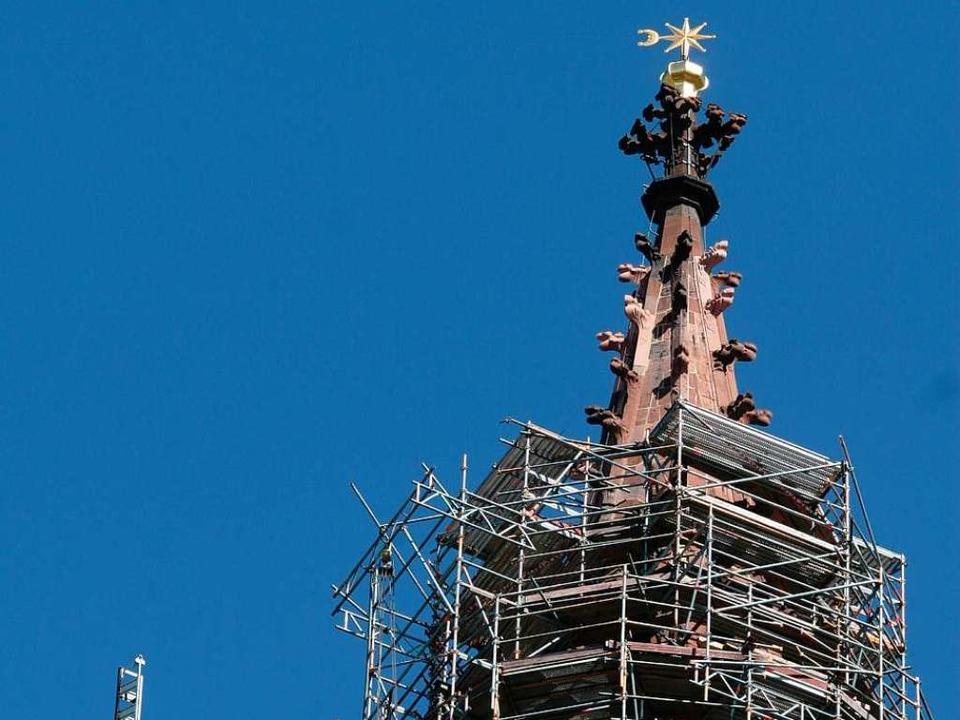 Zumindest die Turmspitze lugte zuletzt...erüst. Damit ist es nun wieder vorbei.  | Foto: Rita Eggstein