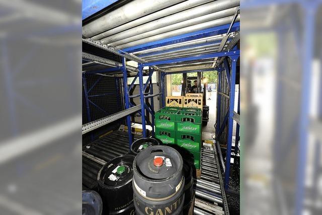 Brauerei Ganter stellt neues Logistikzentrum vor