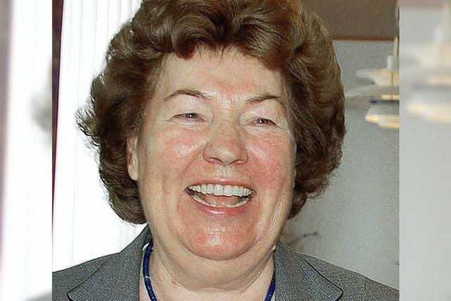 ZUR PERSON: Johanna Zink gewürdigt
