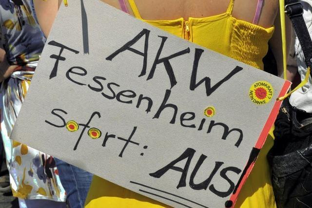 Für Stilllegung von Fessenheim