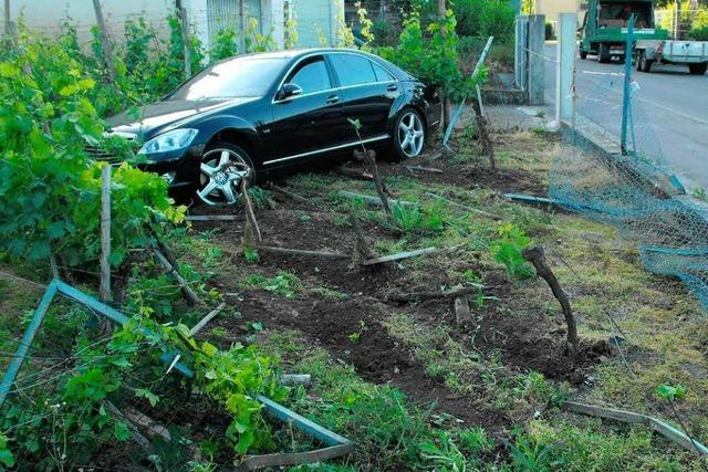 Auto kracht in Garten – Fahrer flüchtet