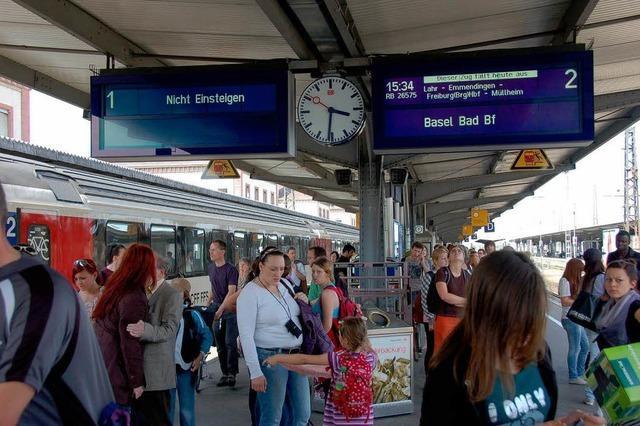 Zugausfälle und Verspätungen in Offenburg