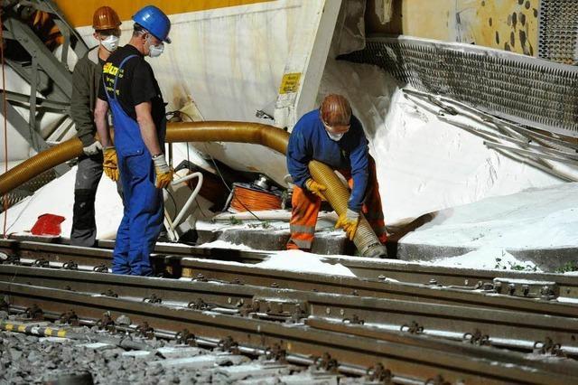 Aufräumarbeiten im Bahnhof Müllheim verzögern sich