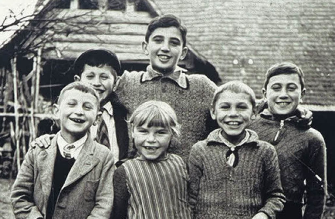 Kindheit in Kippenheim: Christliche un... Kurt Maier ist vorne links zu sehen.     Foto: Privat