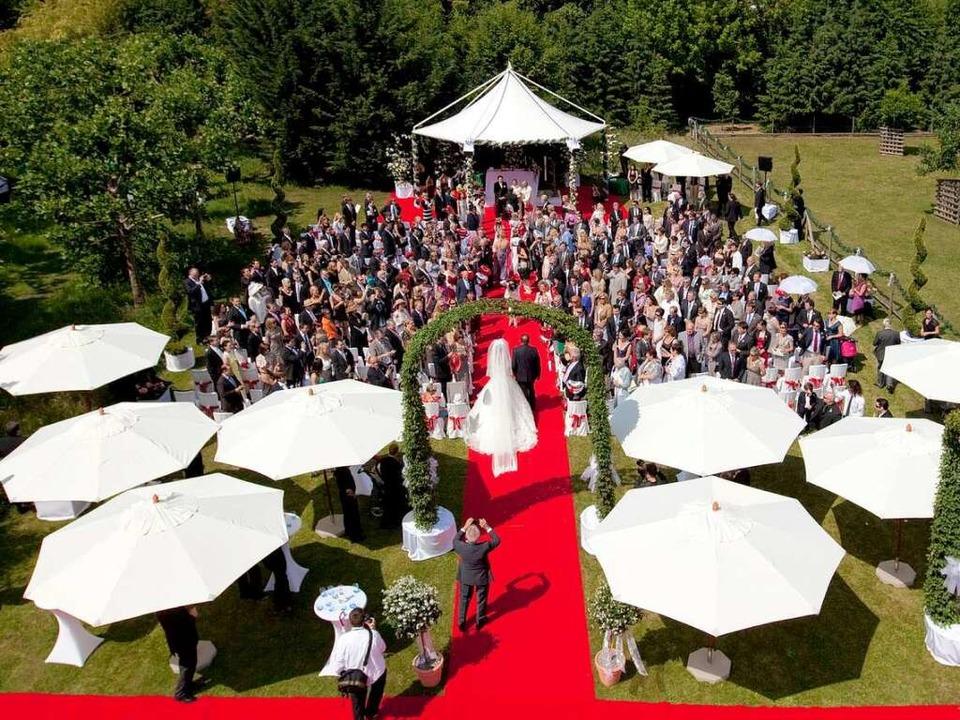 Luftaufnahme der Hochzeit  | Foto: Europa-Park