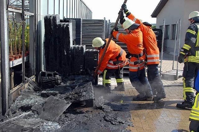 Kleinbrand in einer Sasbacher Gärtnerei
