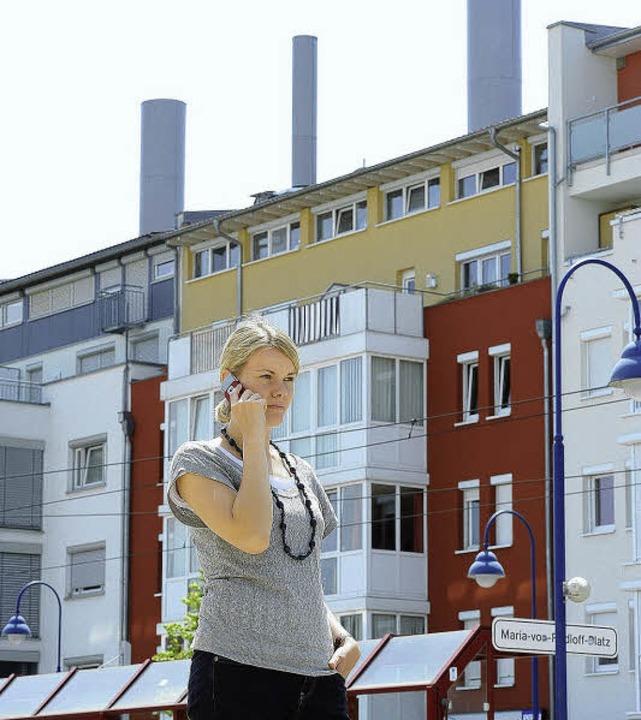 Die in schornsteinähnlichen Röhren pla...ng und für Diskussionen im Stadtteil.   | Foto: i. Schneider