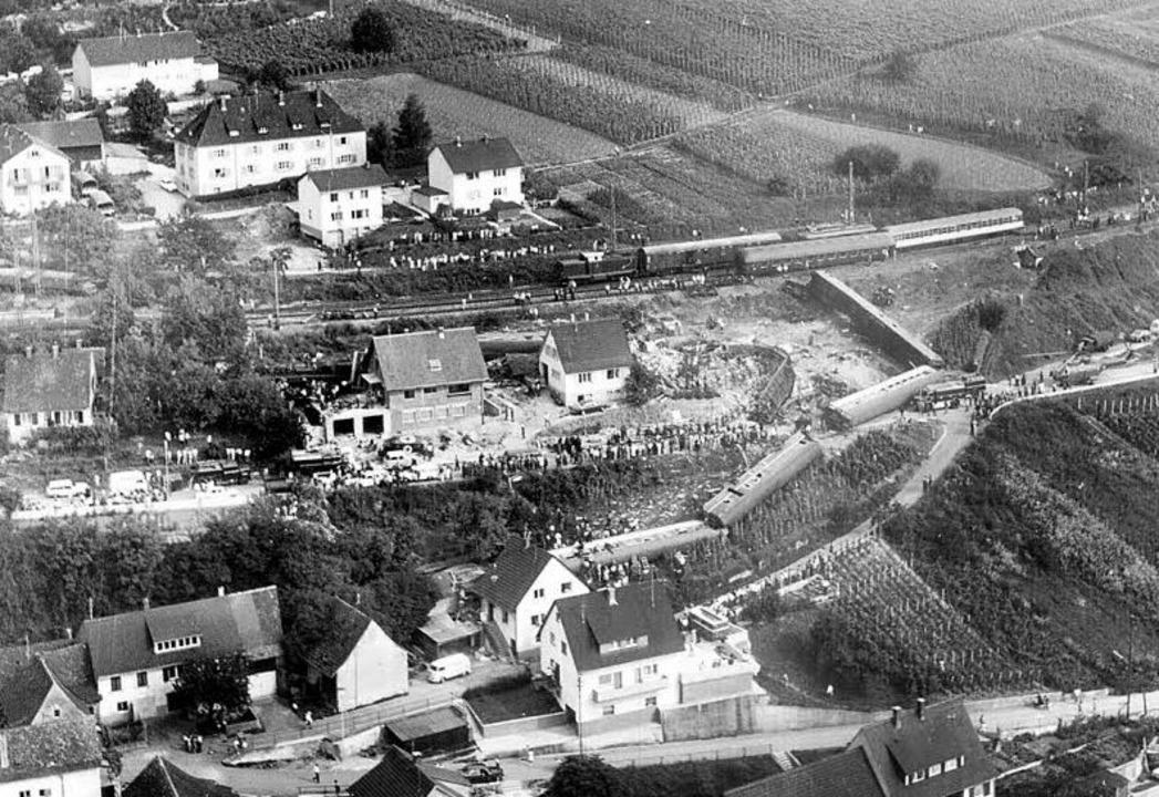 Ein Ort der Verwüstung: Rheinweiler beim Unglück 1971  | Foto: bz