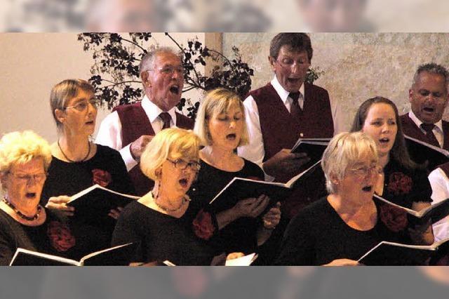 Der Gesangverein Mappach bot Klangfülle, Vielfalt und Gefühl