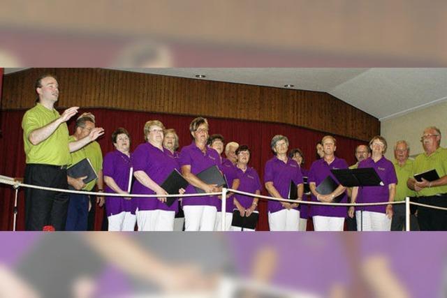 Der Gesangverein zeigt sich frisch, farbenfroh und frühlingsleicht