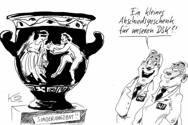 Schlussverkauf in Griechenland . . .