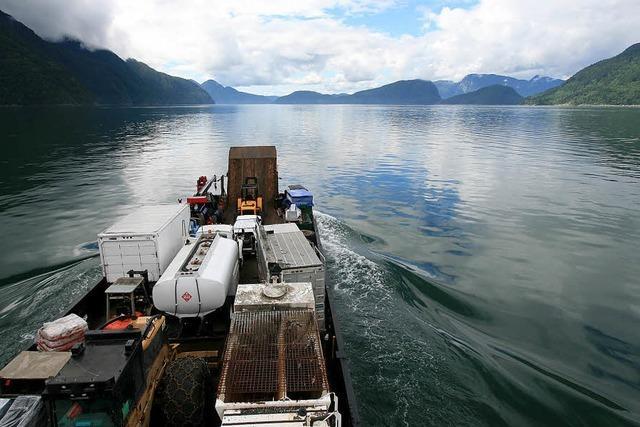 Mit dem Frachtschiff durch die Fjorde in Kanadas Westen