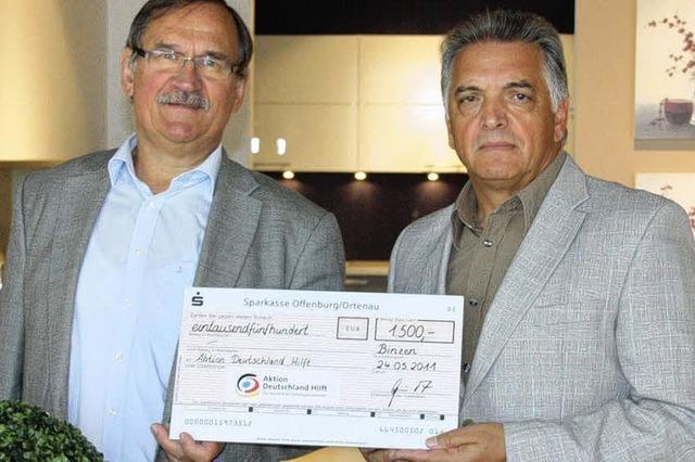 Spende für Erdbebenopfer