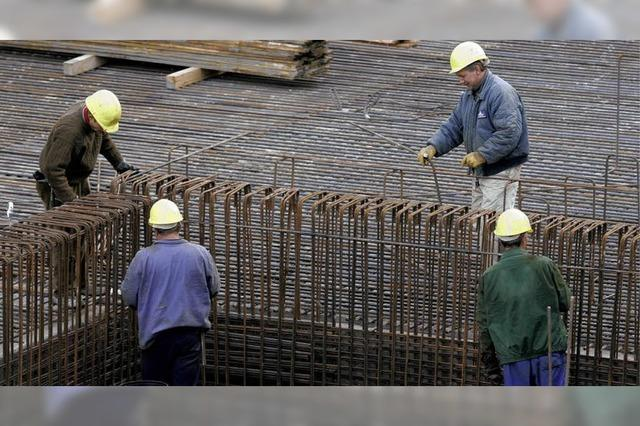 Viele Baufirmen zahlen zu wenig