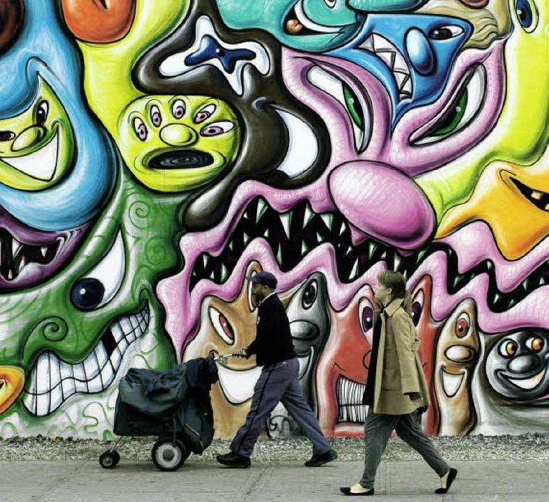 Ein Graffito kann auch Kunst sein.     Foto: Spencer Platt/AFP