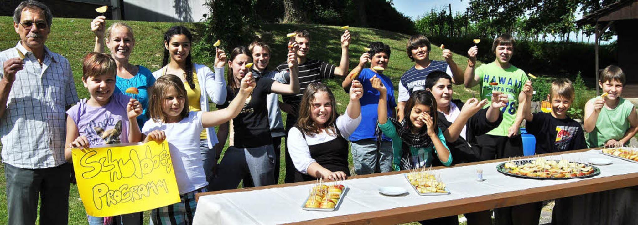 Freude beim Start des  Riegeler Schulobstprojekts  | Foto: PR