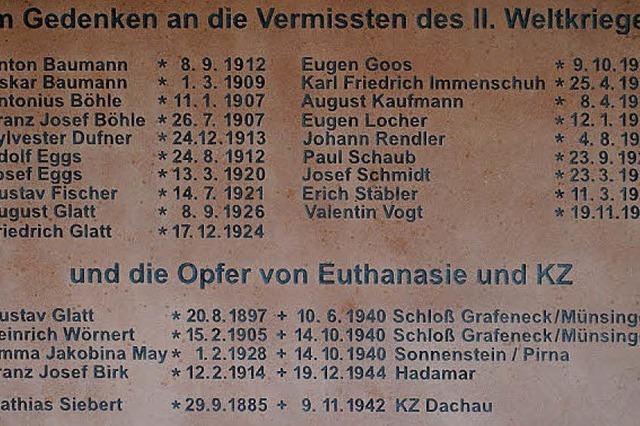 Gedenktafel für die Opfer von Krieg und Staatsterror