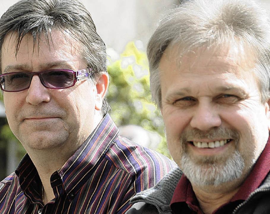 "Stark engagiert bei ""Steinen ech...Lutz Wolff (links) und Rainer Lauppe.   | Foto: Bergmann"