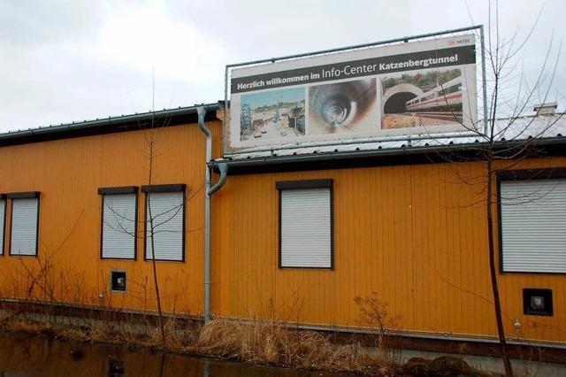 Infocenter am Tunnel wird aktualisiert