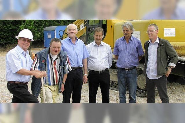 Spatenstich für Neubau der Förderstätte Öflingen