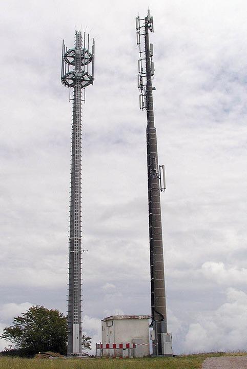 Ein zweiter Sender mit dem  Behördenfu...te Mast soll im Juli abgebaut werden.   | Foto: Wolfgang Adam