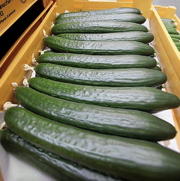 Gurken auf dem Großmarkt    Foto: dpa