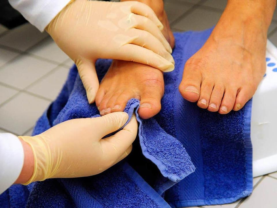 Nicht selbstverständlich: Zehen trocknen  | Foto: Thomas Kunz