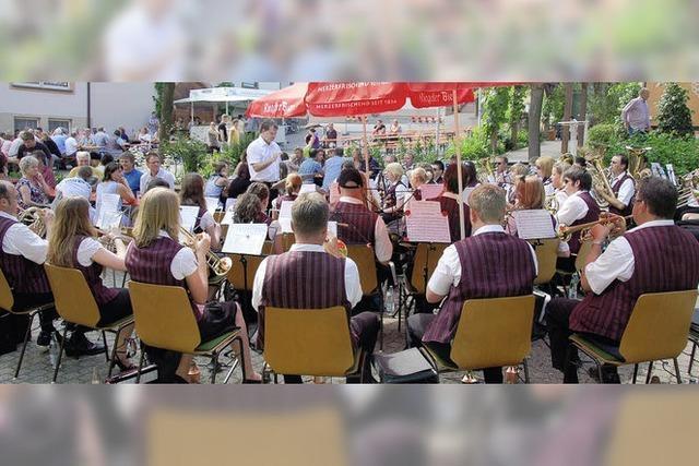 Musikverein bleibt vom Regen verschont