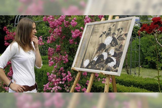 Kunst im Rosengarten