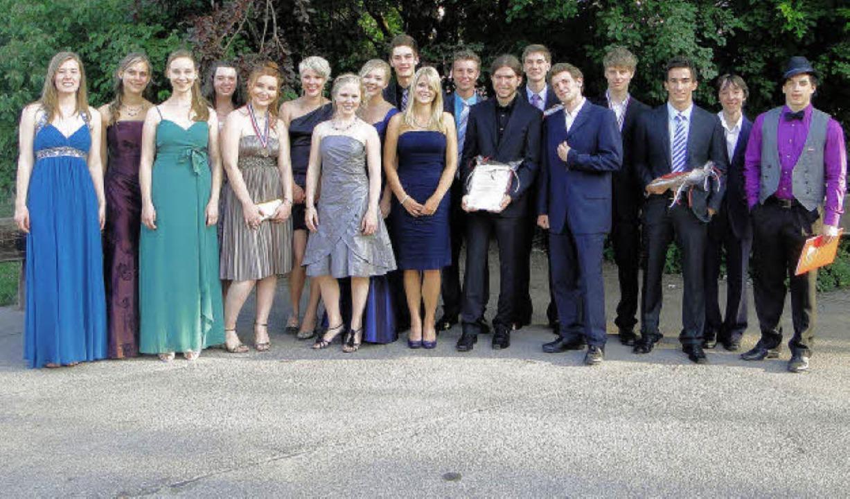 Beim Abiball des Martin-Schongauer-Gym...hpreisen und Medaillen ausgezeichnet.   | Foto: Ines Süssle