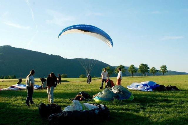 Gleitschirmflug-Meisterschaften am Kandel