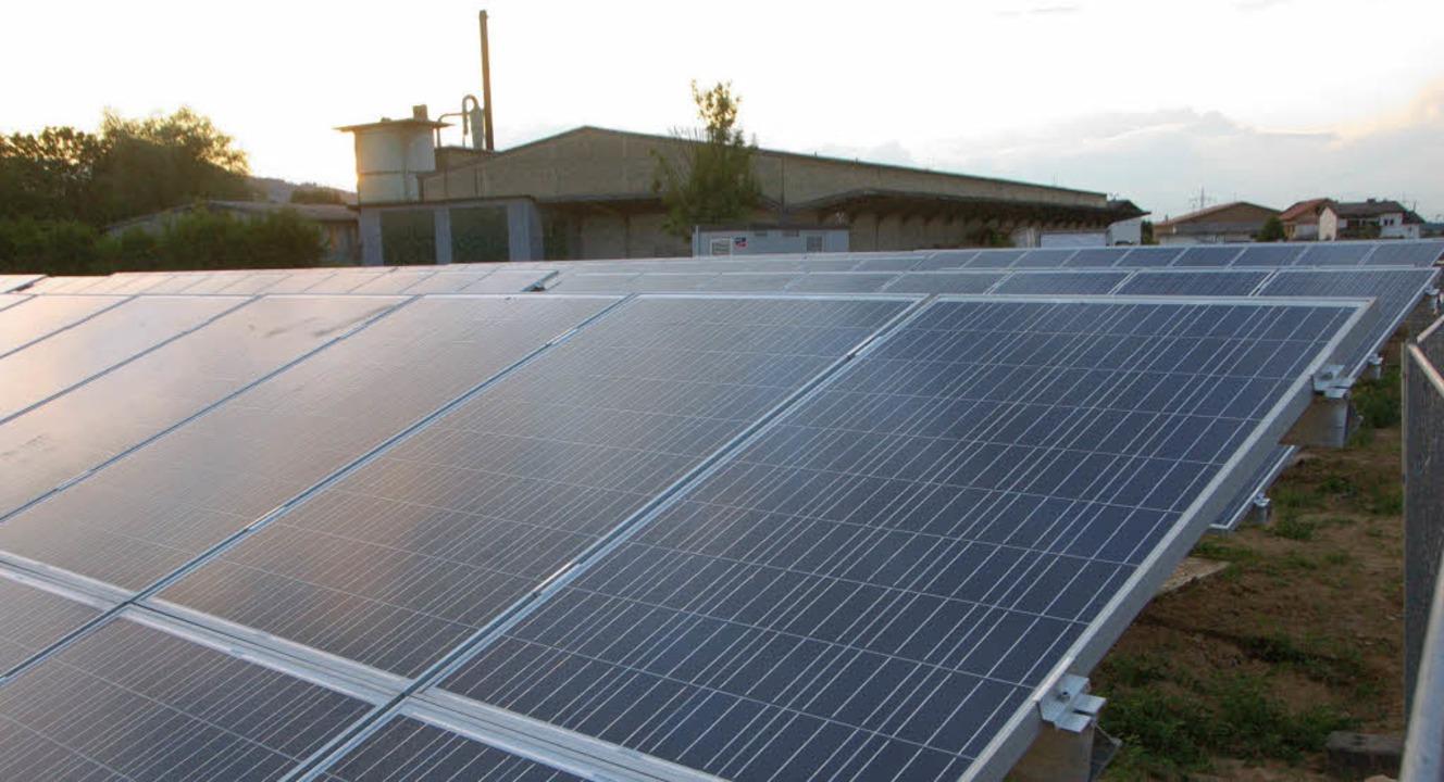 Der EnBW-Solarpark auf dem früheren Et...un auch die Gemeinde beteiligen wird.   | Foto: manfred frietsch