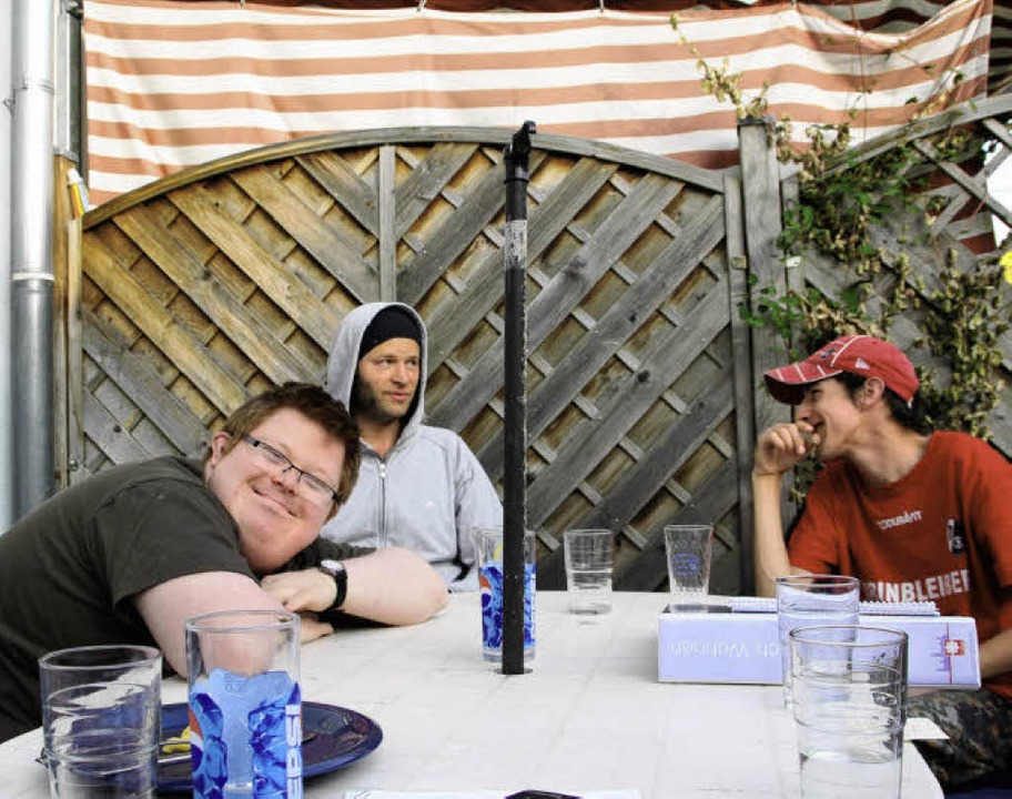 Martin, Christian und Andreas (von lin... zusammen, Nahum fehlt auf dem Foto.    | Foto: Sabine Model