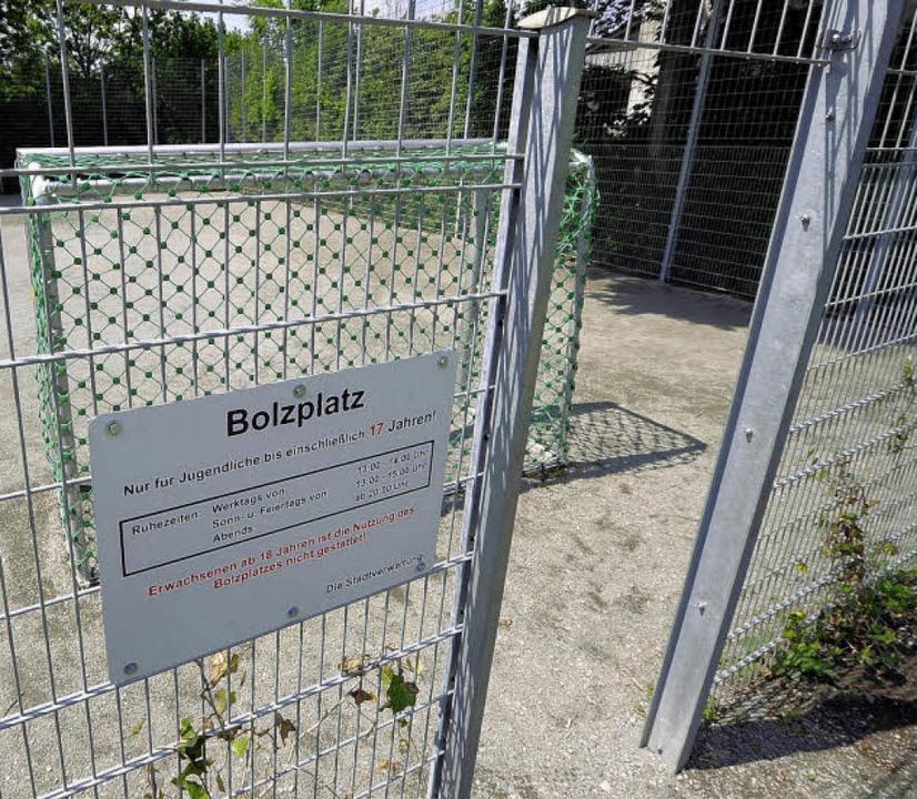 Der umstrittene Bolzplatz in Lehen.   | Foto: Ingo Schneider